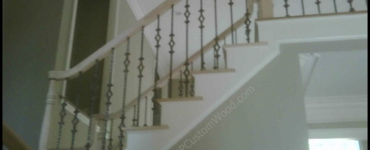 3rd view of Custom Stair Rails with Iron Balusters