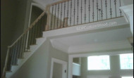 Custom Stair Rails with Iron Balusters