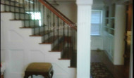 Stairs with Iron Balusters, Column, Built In's…
