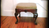 Finished Early American Foot Stool