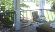 Finished Deck, Columns with Iron Balusters
