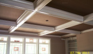 Finished Wood Coffered Ceilings