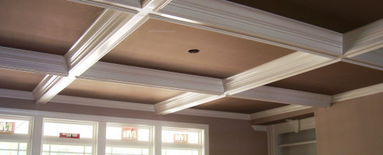 Finished Coffered Ceiling