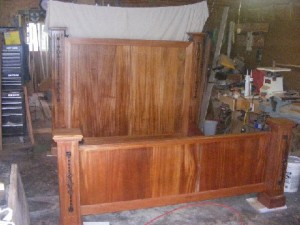finished custom made bed frame finished custom made bed frame - Custom Bed Frames