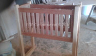 Custom Built Mahogany Cradle