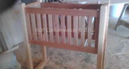 Custom Built Mahogany Cradle